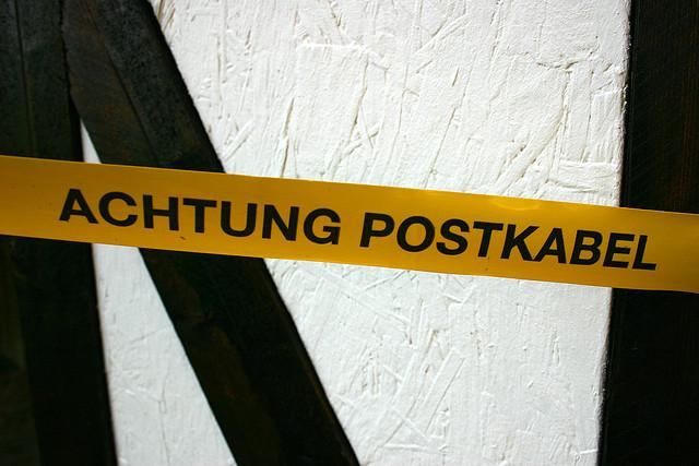 Achtung Postkabel (Thüringen im Juli 2006)