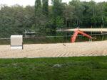 Freibad Jungfernheide: Rutsche und Strandkorb