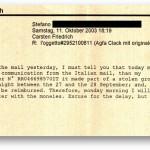 Mail von 2003