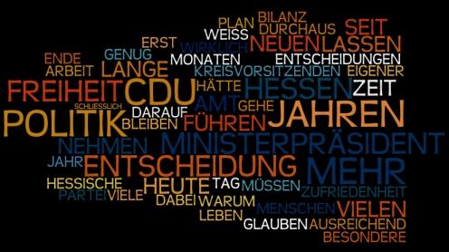 Rücktrittserklärung Roland Koch