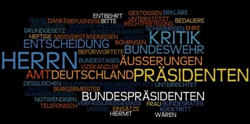 Rücktrittserklärung Horst Köhler
