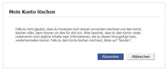 facebook gelöscht