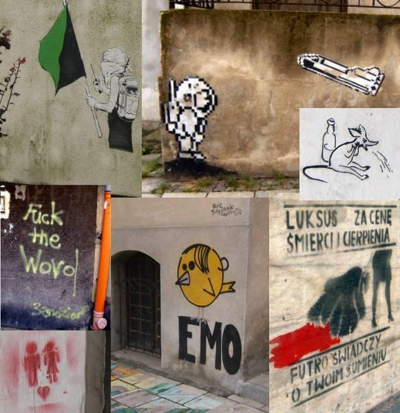 Streetart auf alten Fassaden
