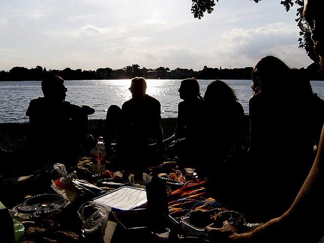 das anonyme picknickbild (juni 2008, potsdam)