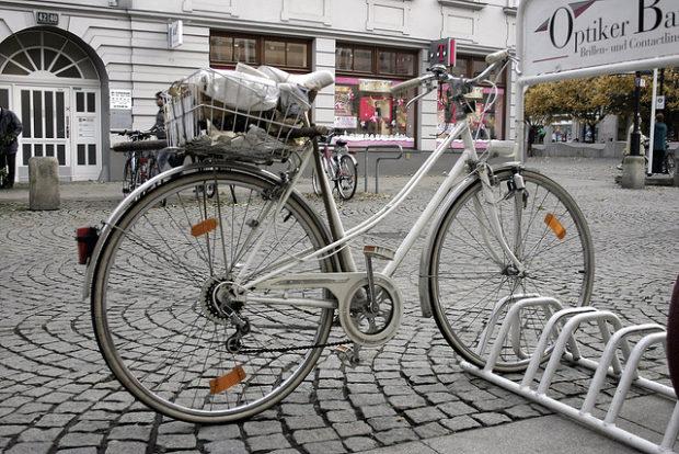 fahrrad in spandau (november 2006)