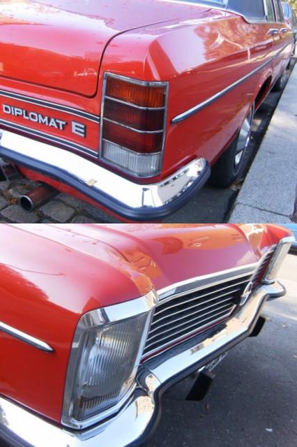 roter Opel Diplomat