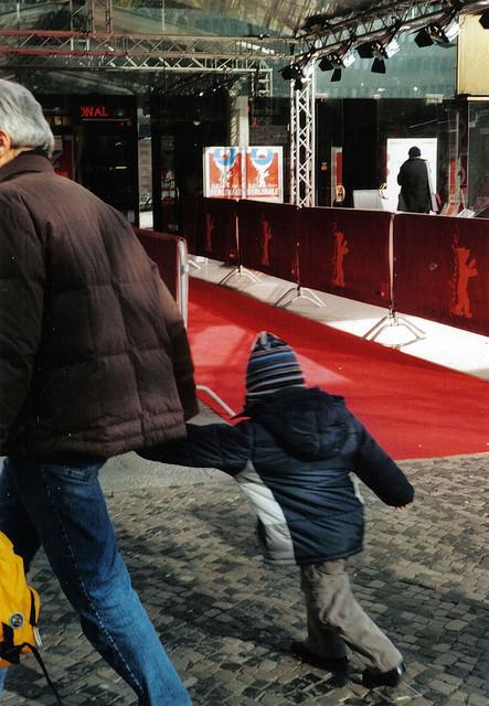 roter teppich bei der berlinale 2008 mit einer EXA 1b (35mm)