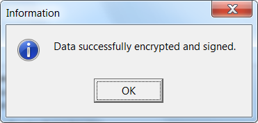 screenshot cryptophane - erfolgsmeldung