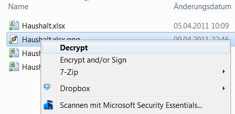 screenshot cryptophane - entschlüsseln