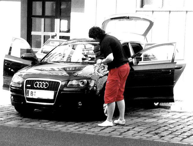 Autowäsche in Mitte - August 2008