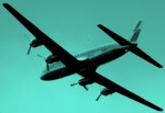 Flugzeug am Himmel von Berlin (Mai 2006)