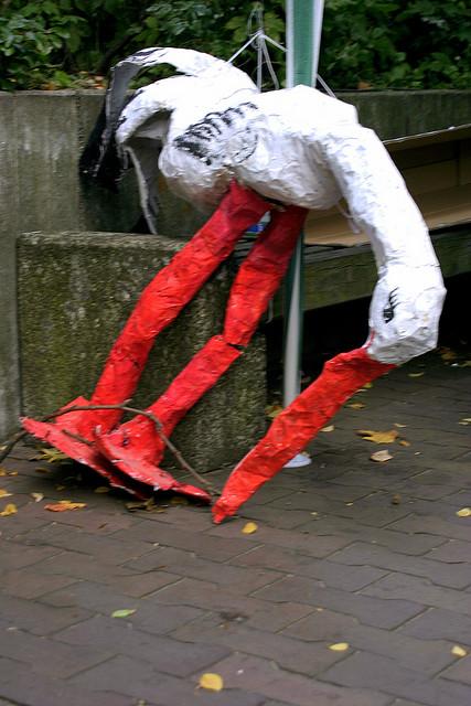 Storch in Kreuzberg (September 2006)