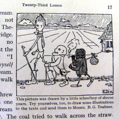 Ausschnitt aus einem Englisch-Schulbuch (1930)
