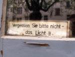 Licht nicht vergessen (April 2010)
