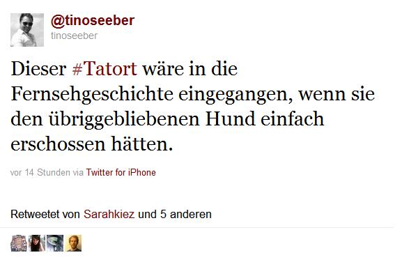 #tatort-Status von @tinoseeber