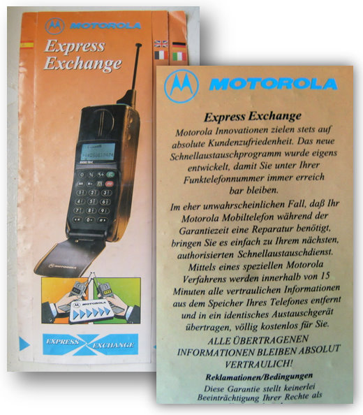 Flyer Motorola Express Exchange (1994)