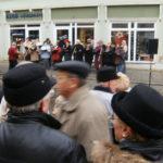 der chor sing auf dem weihnachtsmarkt (dezember 2008)