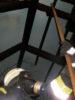 der aufgang zum museum war original verkohlt, inklusive geruch (Juli 2011)