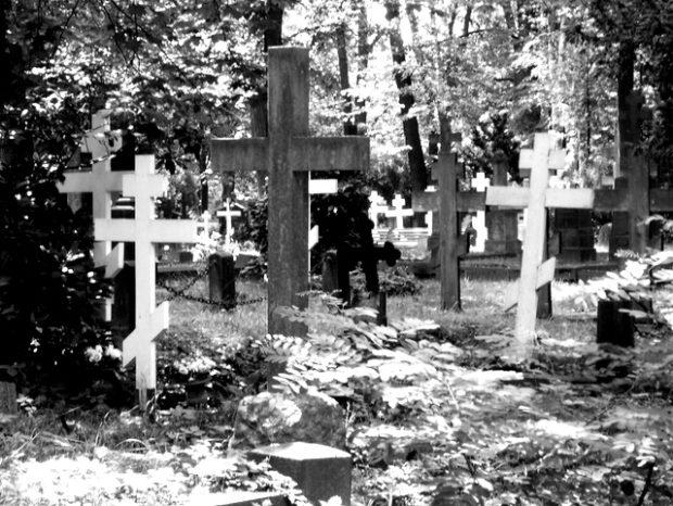 gräber mit typischen kreuzen (Juli 2011)