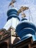 blaue zwiebeltürmchen vor blauem himmel (Juli 2011)