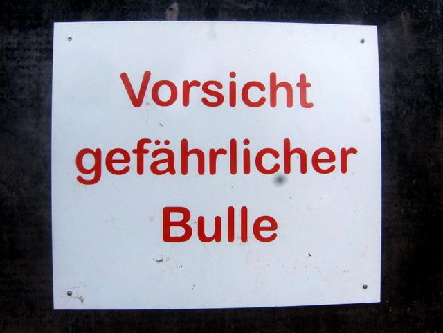 warnung auf dem biohof in brodowin (juni 2011)