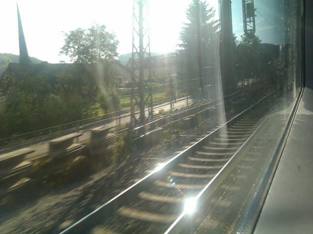 Blick aus dem Zug - Oktober 2011