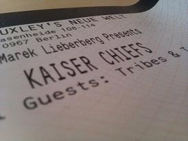 Konzertkarten Kaiser Chiefs