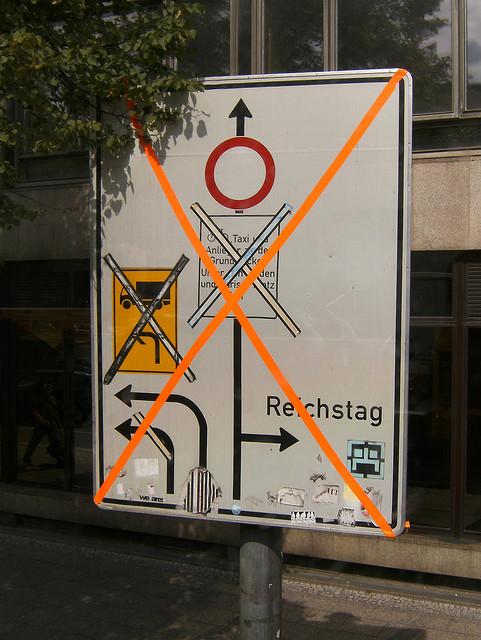 geänderte Verkehrsführung - August 2008