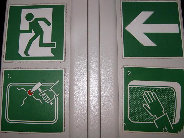 Piktogramme in der Deutschen Bahn - November 2008