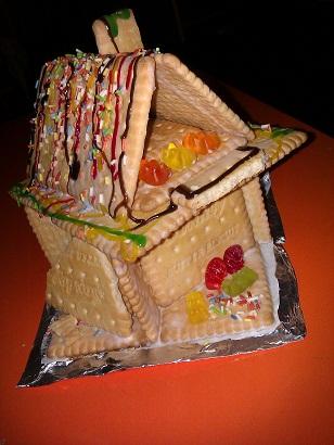 Pfefferkuchenhaus aus fortschrittlichem Keks