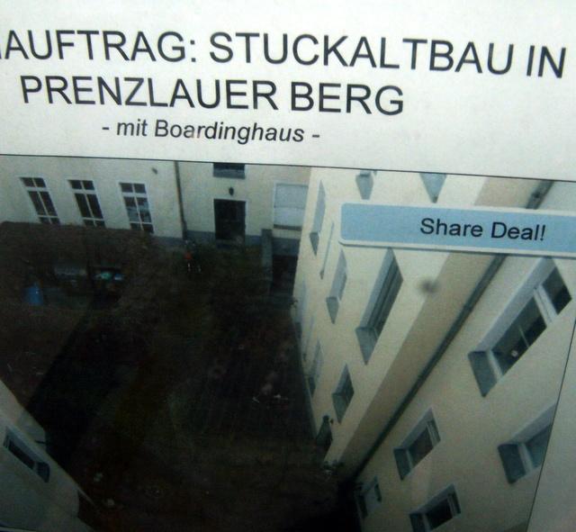 Share Deal - gesehen irgendwo in Mitte, Dez. 2011