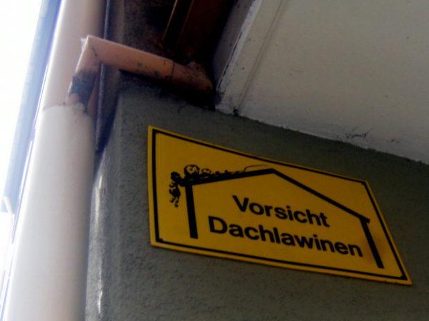 vorsicht dachlawinen