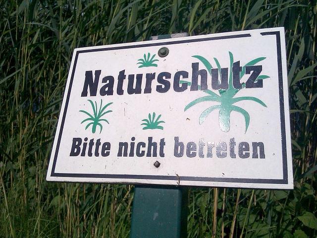 Naturschutz bitte nicht betreten