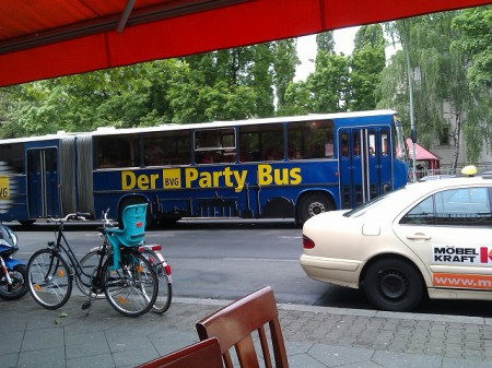 der BVG Party-Bus in der Pankstraße
