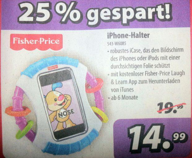 iPhone-Halter, damit das Kleinkind den Mund hält