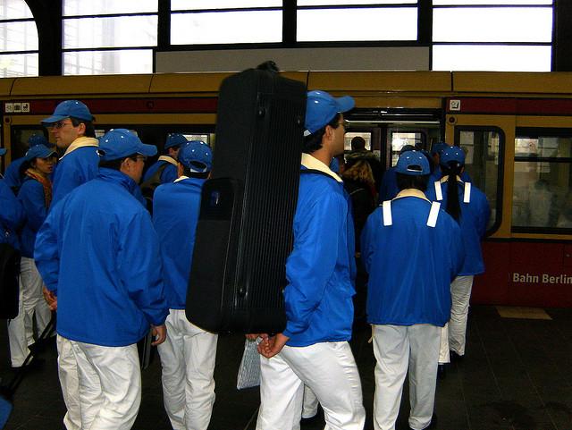 blaues Orchester im Nov 2008
