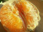 Eine Orange im Frühling