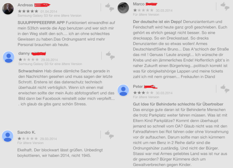 Screenshots von Kommentaren