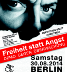 #fsa14 am 30. August 2014 um 14 Uhr vor dem Brandenburger Tor in Berlin
