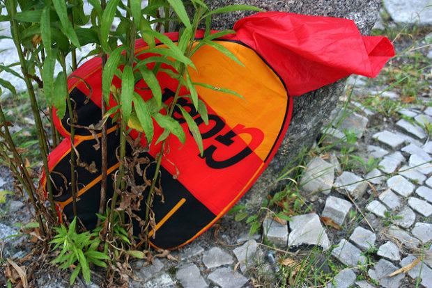 Symbolbild: Deutschlandhand, Juli 2006